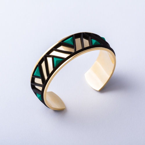 Batucada Armband PETRA Goud met 3 verwisselbare kleuren