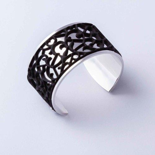 Batucada Armband ORNAMENTAL Zilver met 3 verwisselbare kleuren