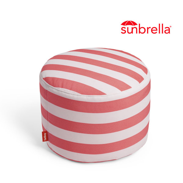 Pouf Point Outdoor Stripe Red
