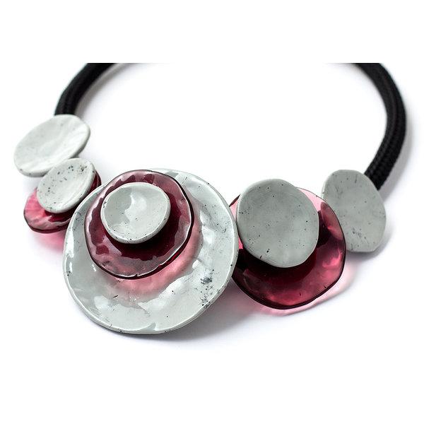 Halsketting grey/pink | Dok Mai