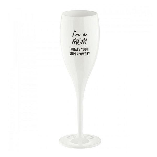 Champagneglas met opdruk: I'm a Mom, ... | 100 ml