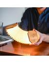 Gingko Smart Accordion Lamp   Bamboo