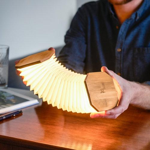 Gingko Smart Accordion Lamp | Bamboo
