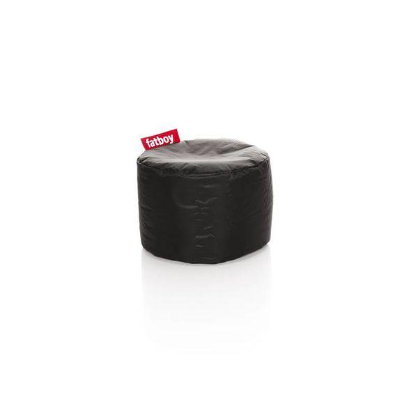 Point poef in nylon - Zwart