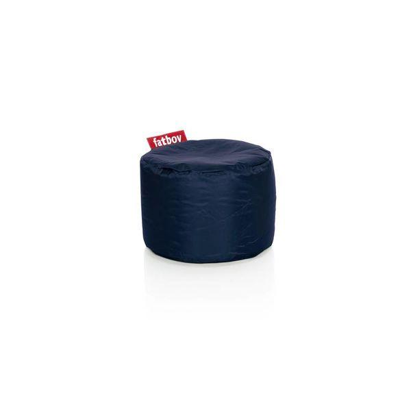 Point poef in nylon - Blauw
