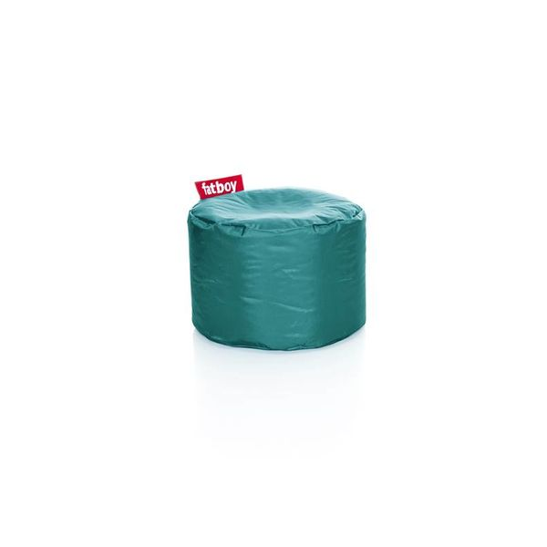 Point poef in nylon - Turquoise