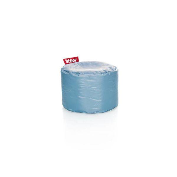 Point poef in nylon - Ijsblauw