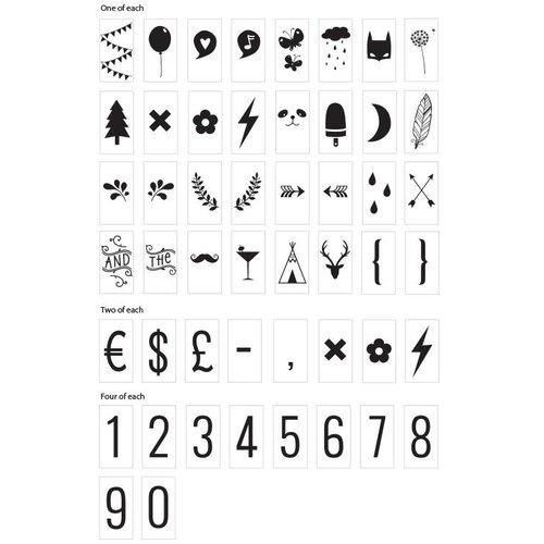 ALLC Lightbox Letter Set: Cijfers en Symbolen