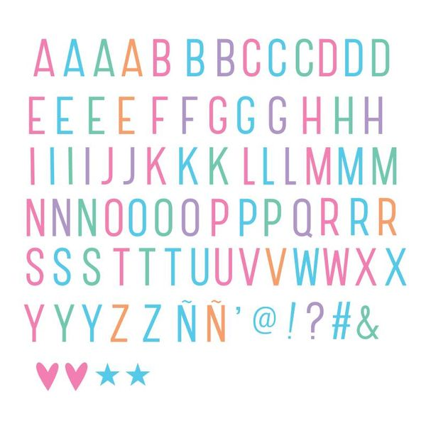 Lightbox Letter Set: Basis Pastel