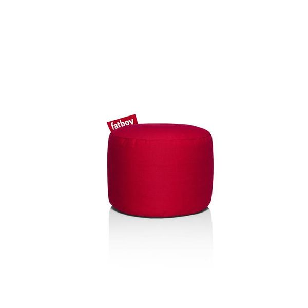 Pouf Rond Point Fatboy - Rouge Stonewashed