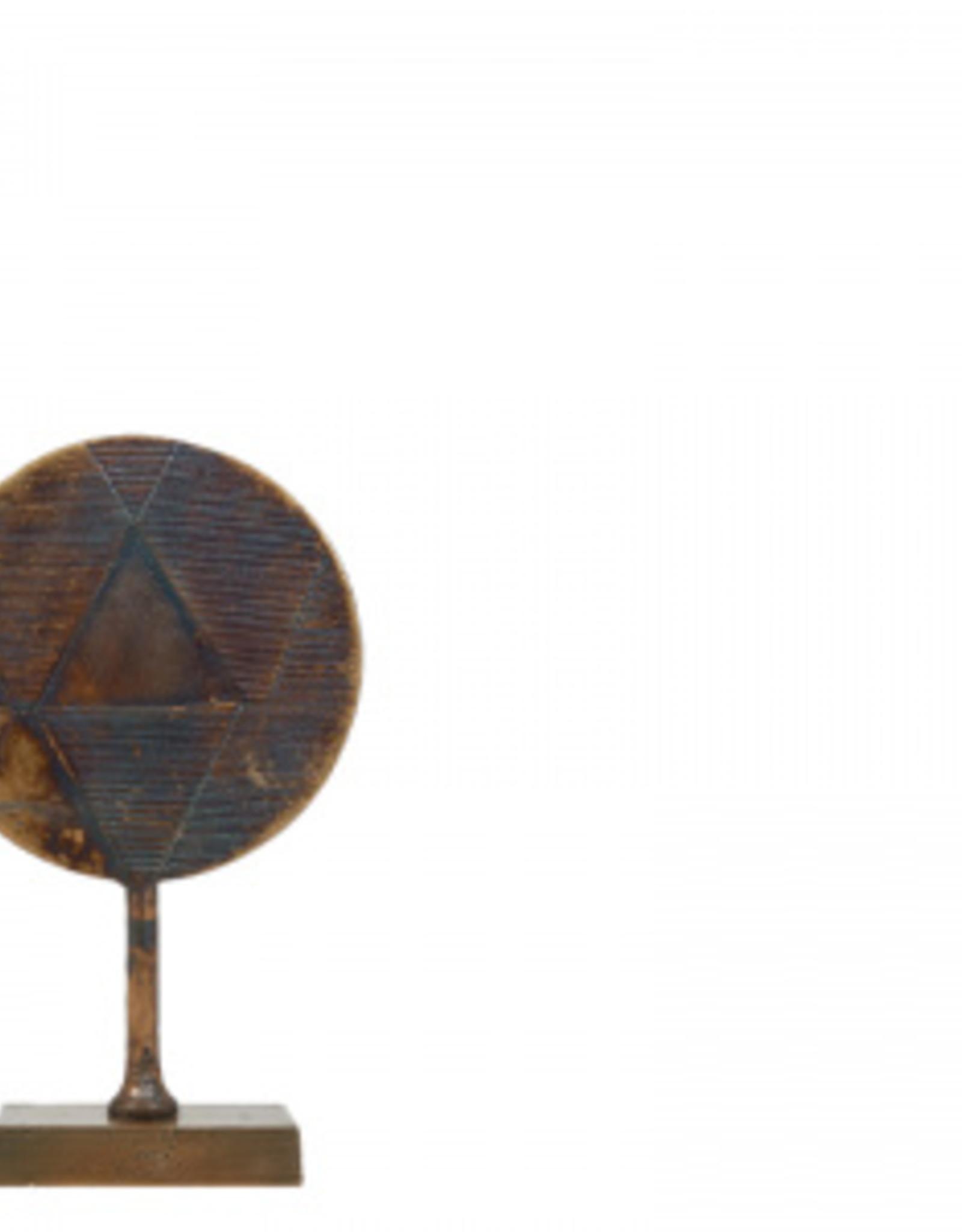 Lifestyle Round deco sculpture Antique Brown S