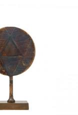 Lifestyle Round deco sculpture Antique Brown L