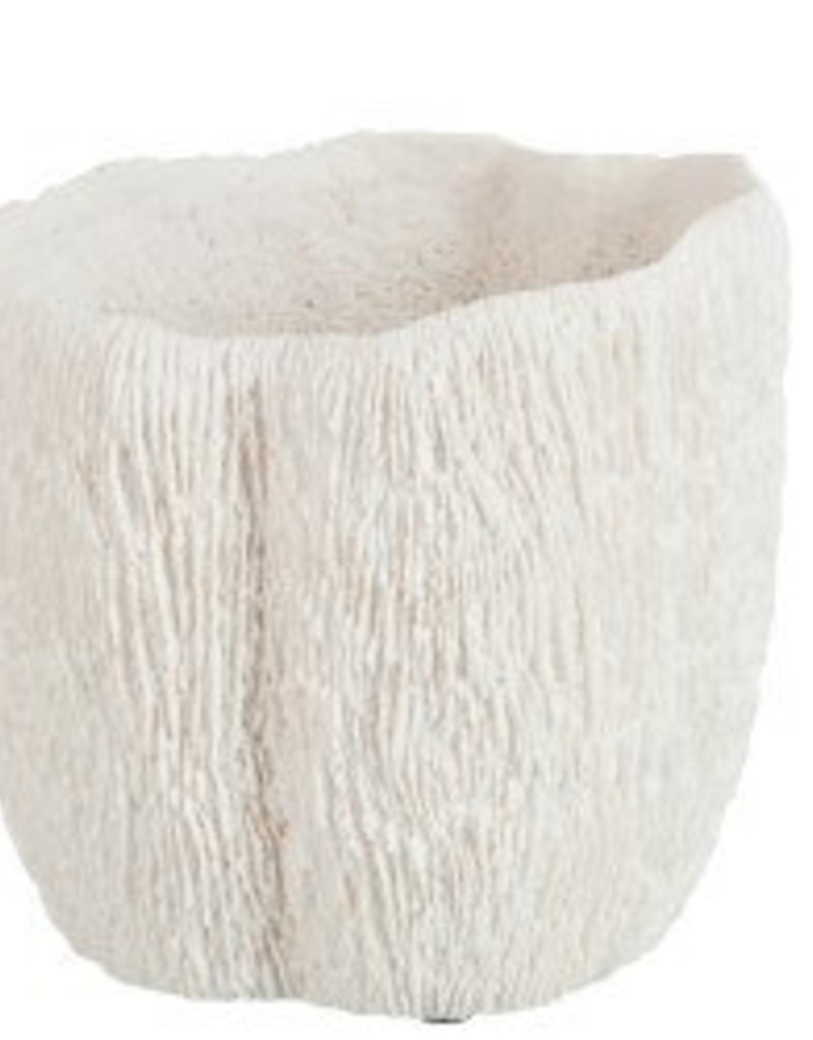 J-line Bloempot Koraal-polyresin wit