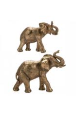 Home Society set van 2 olifanten - goud