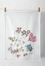 Ambiente Theedoek met bloemen - 50x70 cm