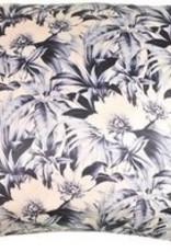 Go Round Goround kussen blauw bloem xxl 60x60