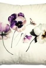 kussen fluweel garden viooltjes 45x45cm