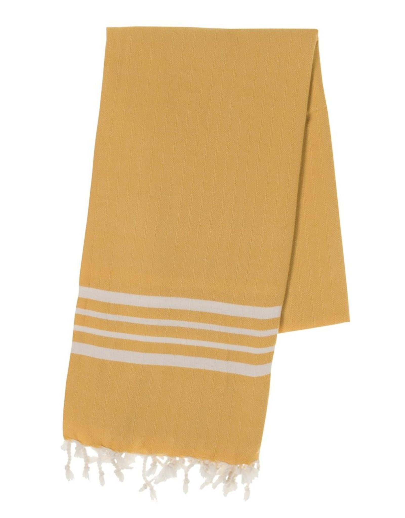 Lalay Hamam handdoek - geel - 100x180 cm