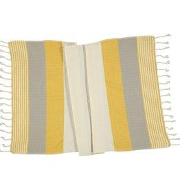 Lalay Hamam handdoek - geel - beige  100x180 cm