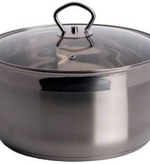 RVS Soeppan met deksel  (6 liter)