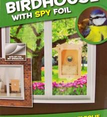 Meekijk vogelhuisje met spionagefolie