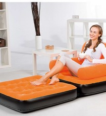 Bestway Sofa, bank en matras, oranje