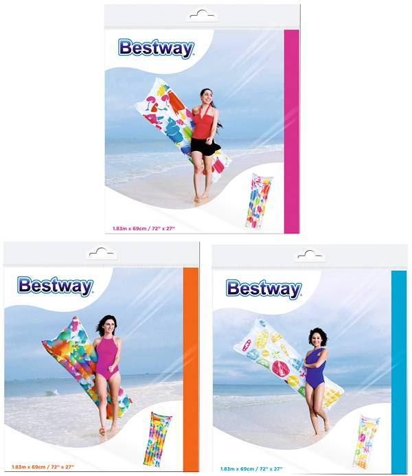 Bestway Luchtbed multicolor 183x69cm