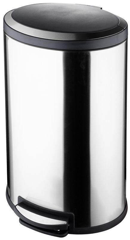 Protenrop Ovale pedaalemmer 40 liter RVS soft closing