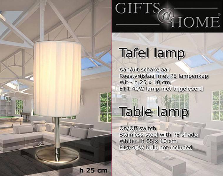 Gifts@Home Gifts@Home Tafellamp (ronde kap)