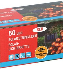 Grundig Solar snoerverlichting 50 LED's rood