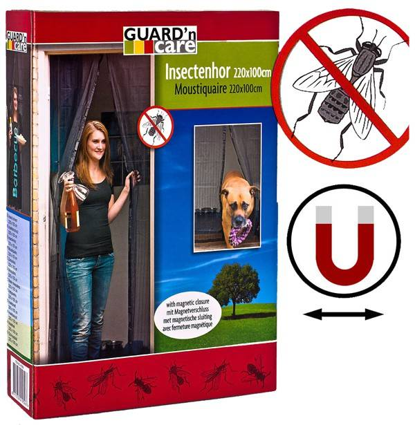 Vliegengordijn Met Magneten.Guard N Care Insektenhor Met Magnetische Sluiting