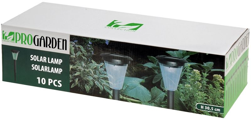 ProGarden Set van 10 Solar LED-lampen