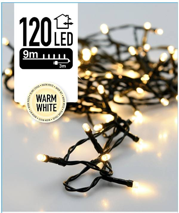 DecorativeLighting Kerstverlichting 120 LED's 9 meter warm wit