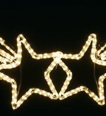 DecorativeLighting Straatverlichting Sterren 150 cm