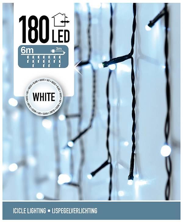 DecorativeLighting IJspegel verlichting 180 LED's 6 meter wit