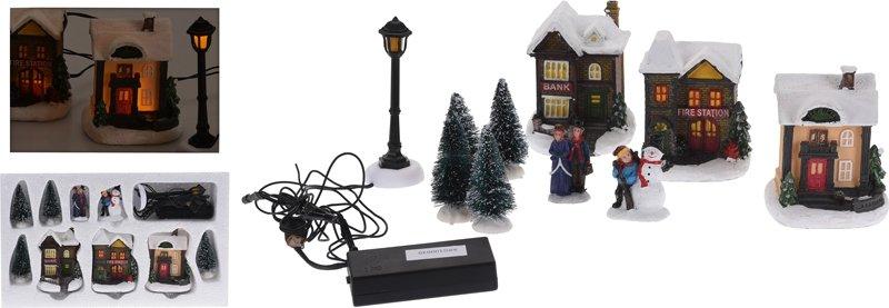 Kerstdorp met LED-verlichting