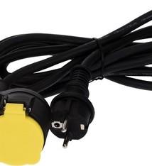 FXcontrol Verlengsnoer met dubbel stopcontact 3 meter IP44