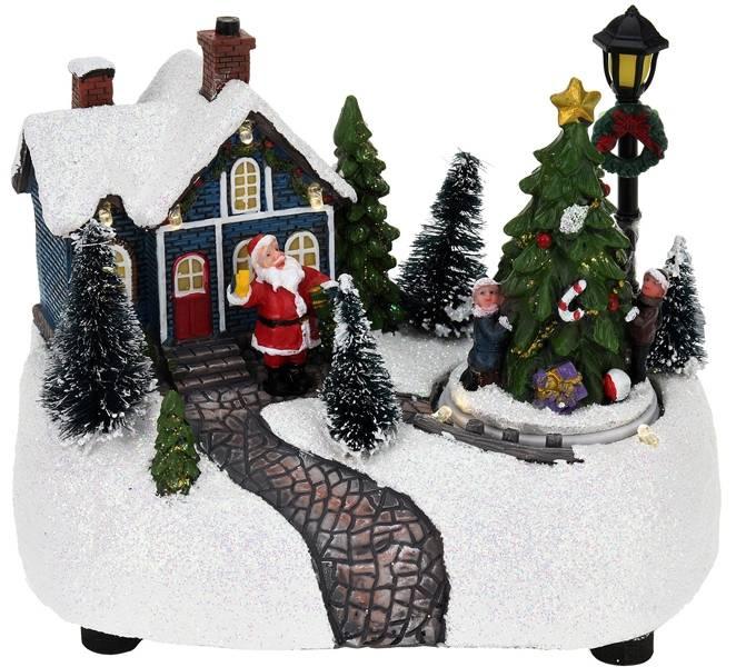 Kersthuisje met verlichting