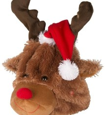 Pluche kerstmuts 24cm (bewegend en zingend)
