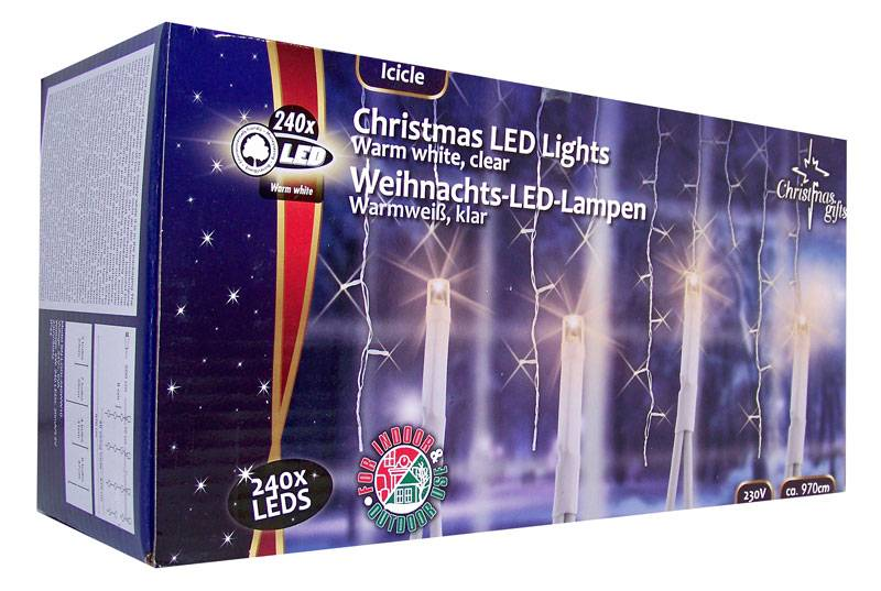 Kerstverlichting ijspegels wit (240 LED's)