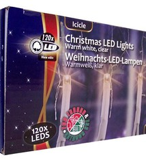 Kerstverlichting ijspegels wit (120 LED's)