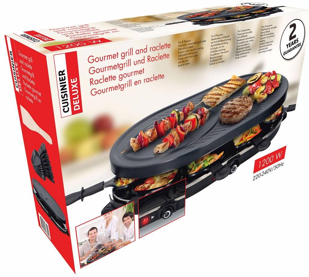 Cuisinier Deluxe Grillplaat Gourmetset 8-persoons