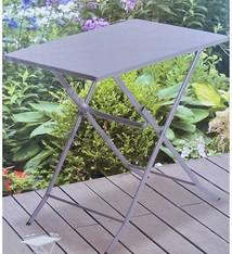 Ambiance Bistrotafel vouwbaar metaal grijs 70x50cm