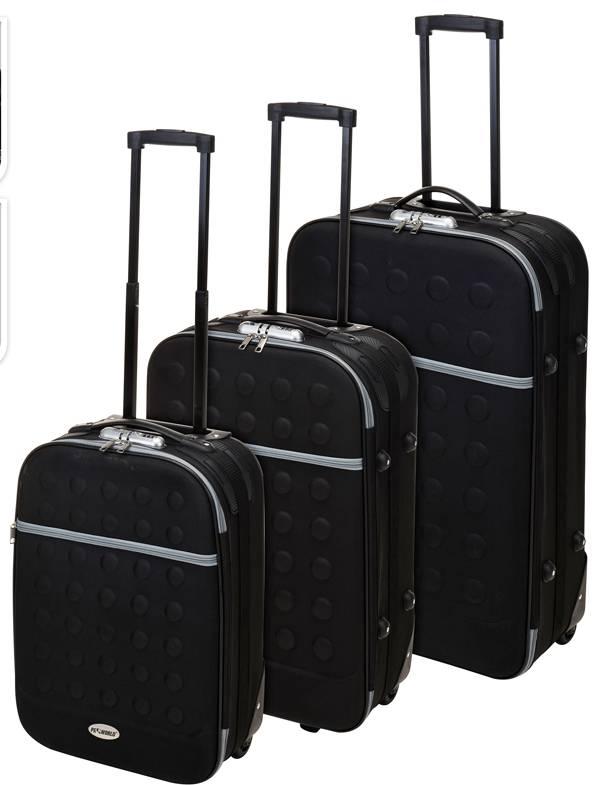 ProWorld Reiskoffers met slot 3-delig zwart
