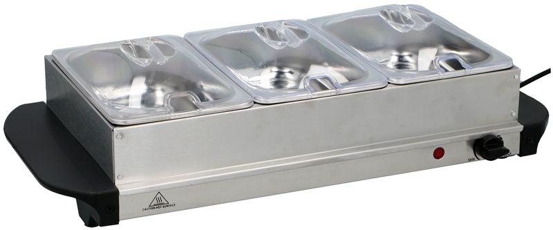 Cuisinier Deluxe Buffetserver met warmhoudplaat 200W