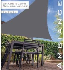 Ambiance Luxe Schaduwdoek 5x5x5 meter grijs