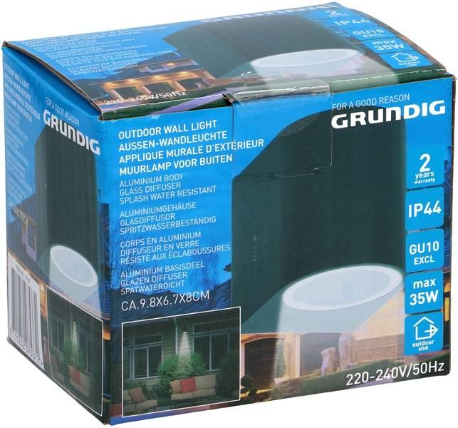 Grundig Aluminium Buitenmuurlamp