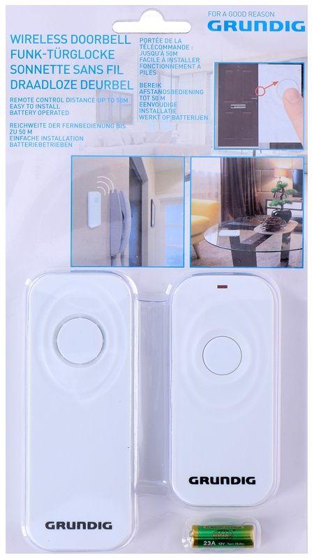 Grundig Draadloze deurbel wit