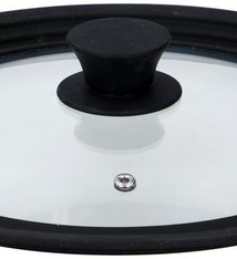 Alpina Glazen deksel met siliconen rand van 24cm/26cm/28cm