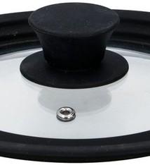 Alpina Glazen deksel met siliconen rand van16cm/18cm/20cm